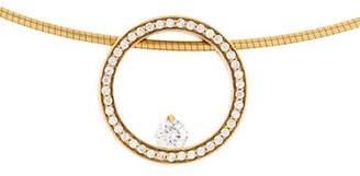 Movado 18K Diamond Pendant Necklace