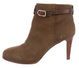 Tory Burch Buckle-Accented Suede Booties