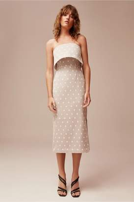 C/Meo Collective LOVE LIKE THIS DRESS grey w ivory spot