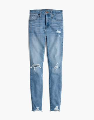 Madewell Curvy High-Rise Skinny Jeans in Ontario: Distressed-Hem Edition