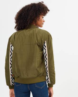 Maison Scotch Bomber with Special Rib on Sleeves