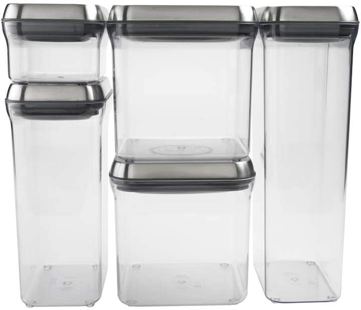 OXO SteeL POP 5-pc. Storage Container Set