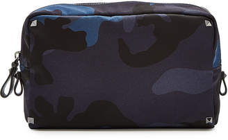 Rockstud Camouflage Printed Wash Bag