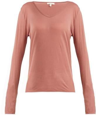 SKIN Long-sleeved pima-cotton pyjama top