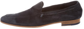 Paul Smith Paul Smith Suede Semi Pointed-Toe Loafers
