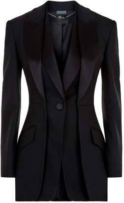 Alexander McQueen Layered Lapel Tuxedo Jacket