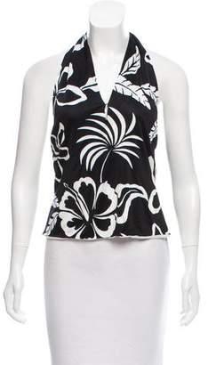 Ralph Lauren Black Label Floral Print Halter Top