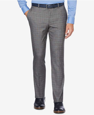 Perry Ellis Portfolio Men's Slim-Fit Performance Stretch Check Dress Pants