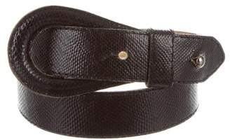 Kenzo Embossed Leather Loop Belt
