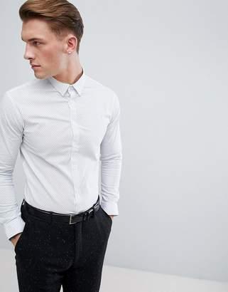 Celio Smart Slim Fit Shirt With Ditsy Print