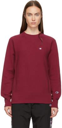 Champion Reverse Weave Burgundy Small Logo Sweatshirt