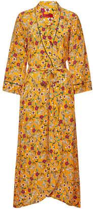 HUGO Kerlina Printed Wrap Dress with Silk