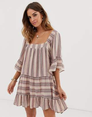 Tigerlily Tami smock dress in stripe