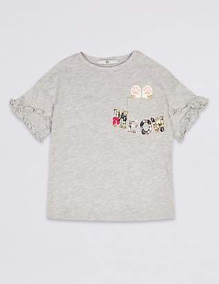 Marks and Spencer Meow Pocket Top (3-16 Years)
