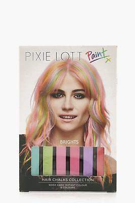 boohoo NEW Womens Pixie Lott Bright Festival Hair Chalk Pack in Multi size One