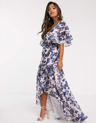 Keepsake halo floral gown