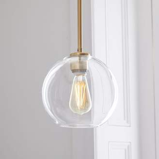 west elm Sculptural Glass Globe Pendant - Clear
