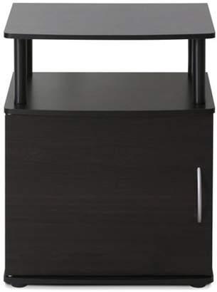 Furinno JAYA Utility Design End Table, 15114BKW