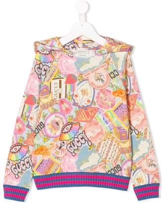 Gucci Kids printed hoodie