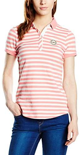 Gaastra Women's Polo Short Sleeve Polo Shirt Multicoloured Mehrfarbig (STRAWBERRY L04)