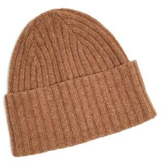Drakes Drake's Brushed Merino Wool Hat in Tan