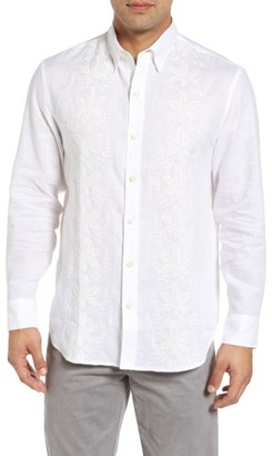 Men's Big & Tall Tommy Bahama White Night Linen Sport Shirt $158 thestylecure.com