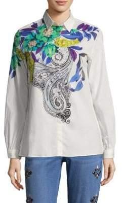 Etro Expanded Floral Cotton Shirt