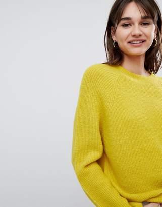 Asos Design DESIGN fluffy sweater in rib