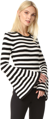 Milly Bell Sleeve Pullover $275 thestylecure.com