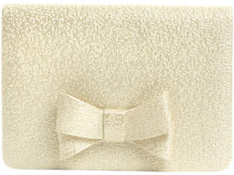 Phase Eight Ariel Metallic Bow Clutch, Cream Ivory