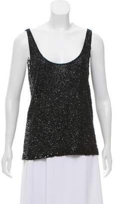 Donna Karan Sleeveless Embellished Top