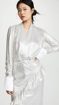 ANAÏS JOURDEN Silver Pleated Blouse