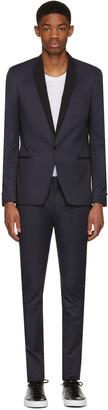 Philippe Dubuc Navy Tuxedo Suit $945 thestylecure.com