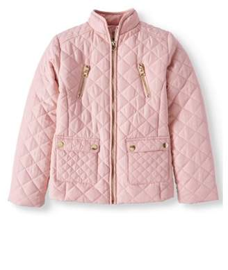 BHIP Quilted Zip Front Jackets with Snap Pockets (Big Girls)