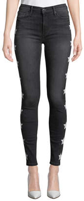 Black Orchid Gisele High-Rise Super Skinny Jeans with Stars