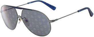 MCM Visetos Aviator Sunglasses with Bar, Light Gray