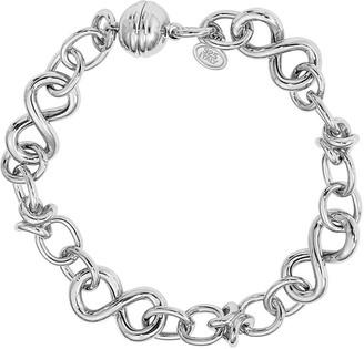 Italian Silver Figure-Eight Link Bracelet, 20.2g