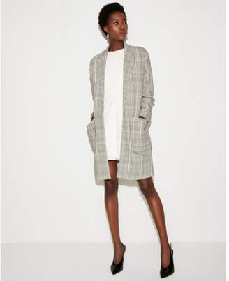 Express double weave plaid coat