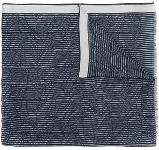 Giorgio Armani striped embroidered scarf