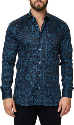 DAY Birger et Mikkelsen Maceoo Shaped-Fit Luxor Webspread Sport Shirt