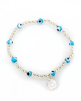 Blee Inara Turquoise Eye Stretch Bracelet