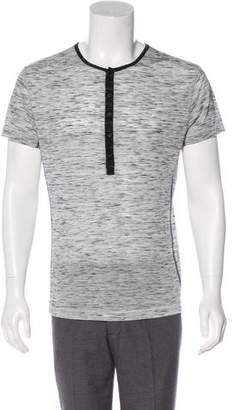 Yigal Azrouel Melange Henley T-Shirt w/ Tags