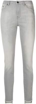Karl Lagerfeld Paris skinny fringed jeans