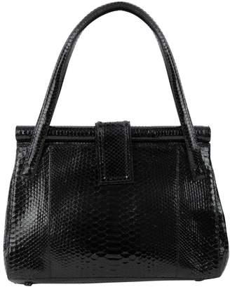 Nancy Gonzalez Black Python Handbag