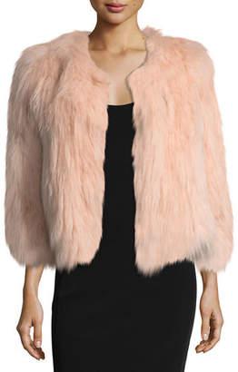 Belle Fare Silver Fox Short Bolero Coat