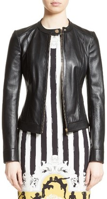Women's Versace Collection Leather Jacket $1,325 thestylecure.com