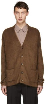 Brioni Brown Mohair Cardigan