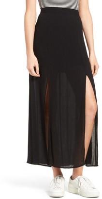 Women's Love, Fire Slit Maxi Skirt $45 thestylecure.com