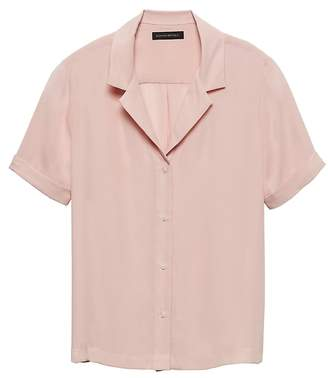 Banana Republic Relaxed Camp-Collar Shirt