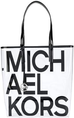 MICHAEL Michael Kors Graphic Logo Clear shoulder bag